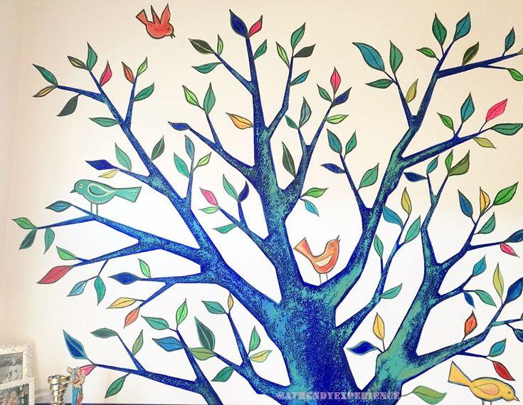 Come decorare una parete con la pittura murale (con ...