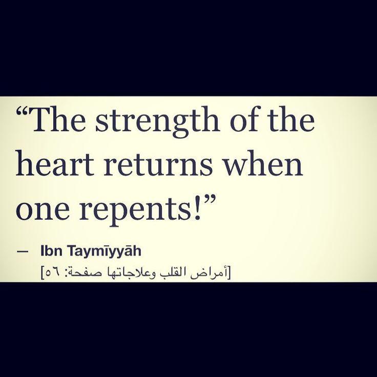 Ibn Taymiyyah rahimahullah on tawbah