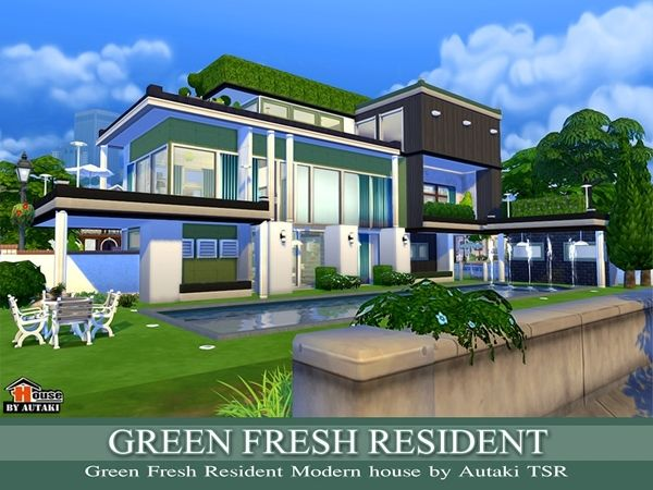 The Sims Resource Green Fresh Resident by Autaki Sims 4