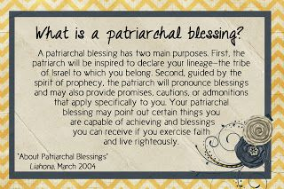 LDS Handouts: Prophets & Revelation: How can a Patriarchal Blessing help me?