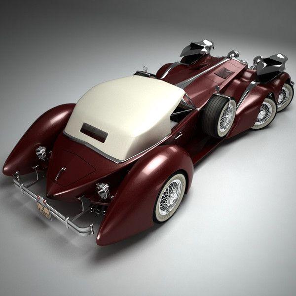 rolls royce steampunk 3d model - SteamPunk Car by Render Steel
