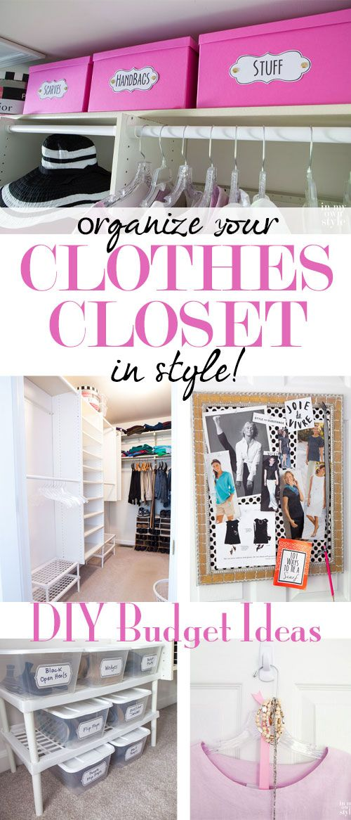 DIY clothes closet on a REAL budget along with ways to help you coordinate your clothes into many fashionable outfits! Come see the rest of the pics and get ideas to steal for your own closet!