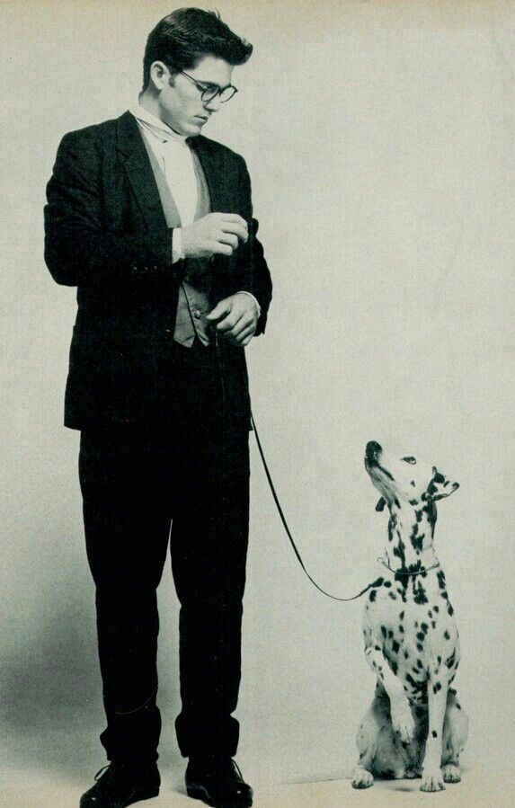 GQ 1983 | Michael Schoeffling and a Dalmation