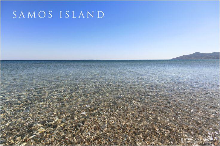 happy blue sky and crystal waters at Potokaki beach