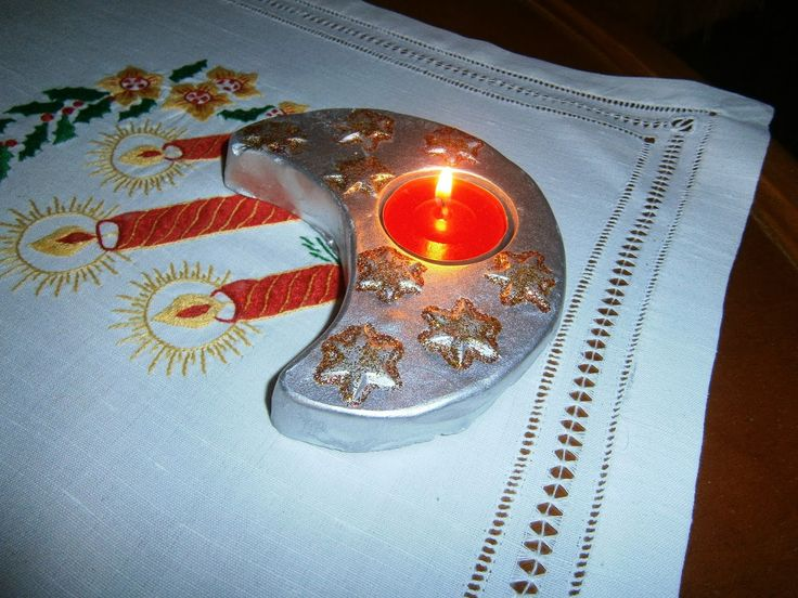 Lia B. Creations: Moon Christmas candle