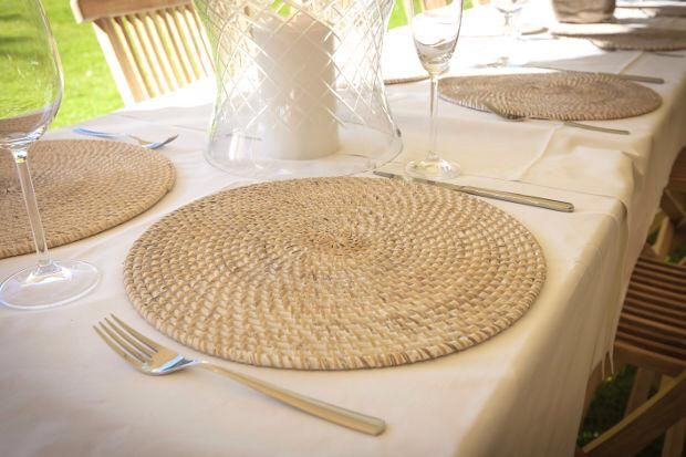 Rattan mats #mats #christmas #tablemats