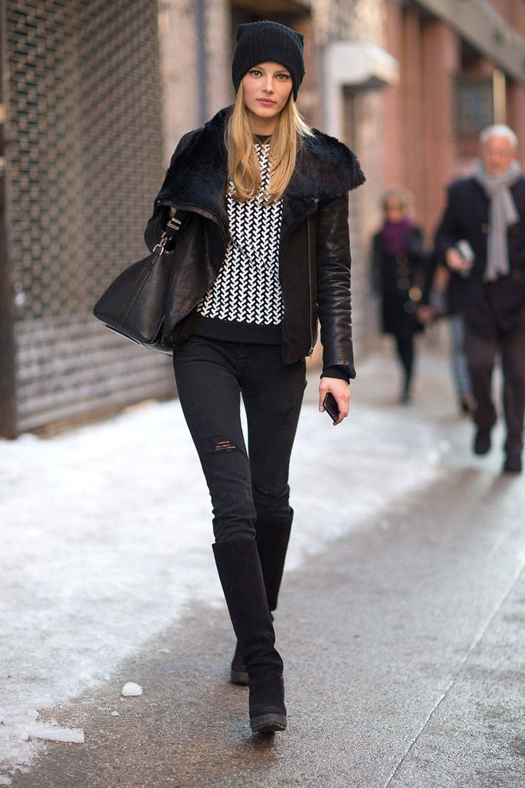 New York Street Chic Fall 2014 Black Leather Jackets