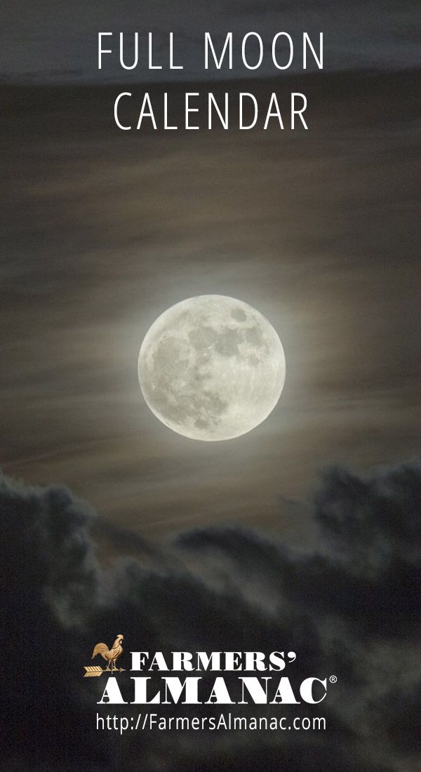 Full Moon Calendar - Farmers' Almanac #fullmoon #astronomy