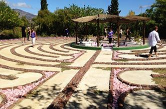 Karoo | Route 62 | Calitzdorp | The Labyrinth  WOuld love to walk this little labyrinth