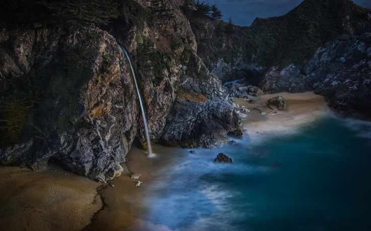 Moonrise Kingdom This is one of my favorite new pieces from this year! I just shot it a few days ago.It was shot waaaay after the sun went down in Big Sur, California. This is a crazy waterfall that pours off onto the beach. You can't see it from the road, and it requires a short walk. I found it thanks to Stuck On Earth, although I am sure other locals have known about this semi-secret place forever! You can go here too… it's not terribly difficult. It's called ...