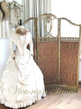 "Victorian Times"" Prachtig Antiek Victoriaans Kamerscherm"