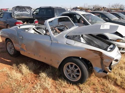 Good  Volkswagen Karmann Ghia being Parted Out on PartingOut