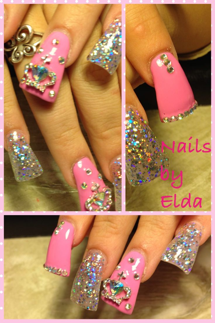 Duck tips with baby pink and 3d - Best 25+ Duck Tip Nails Ideas On Pinterest Purple Acrylic Nails