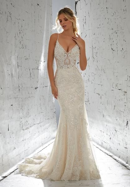 AF Couture by Morilee 1711 Laurette Beaded Fitted Wedding Dress