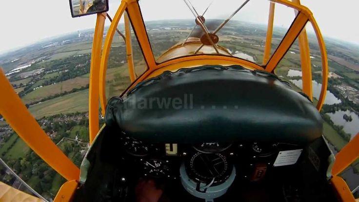 Tiger Moth flying on GoPro Hero Helmet Cam