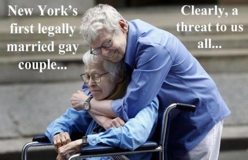 Do you really think these two loving people are a threat to straight marriage?
