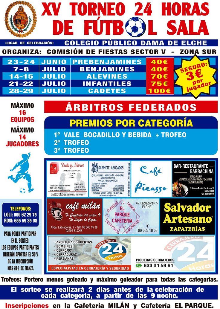Salvador artesano zapaterías patrocinador del XV torneo 24 horas de fútbol sala