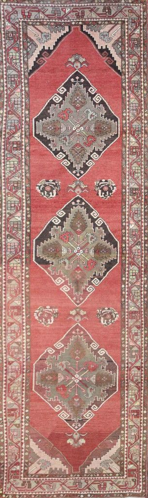 """Carpet Culture - TURKISH OLD RUNNER - 3' - 4"""" X 11' - 5""""  - A 021"""