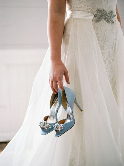 Baby blue shoes: http://www.stylemepretty.com/north-carolina-weddings/holly-springs-north-carolina/2015/05/28/blue-metallic-wedding-inspiration-shoot/ | Photography: Live View Studios - http://www.liveviewstudios.com/