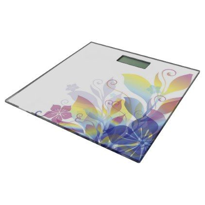 Dreaming in Flowers Bathroom Scale - floral style flower flowers stylish diy personalize