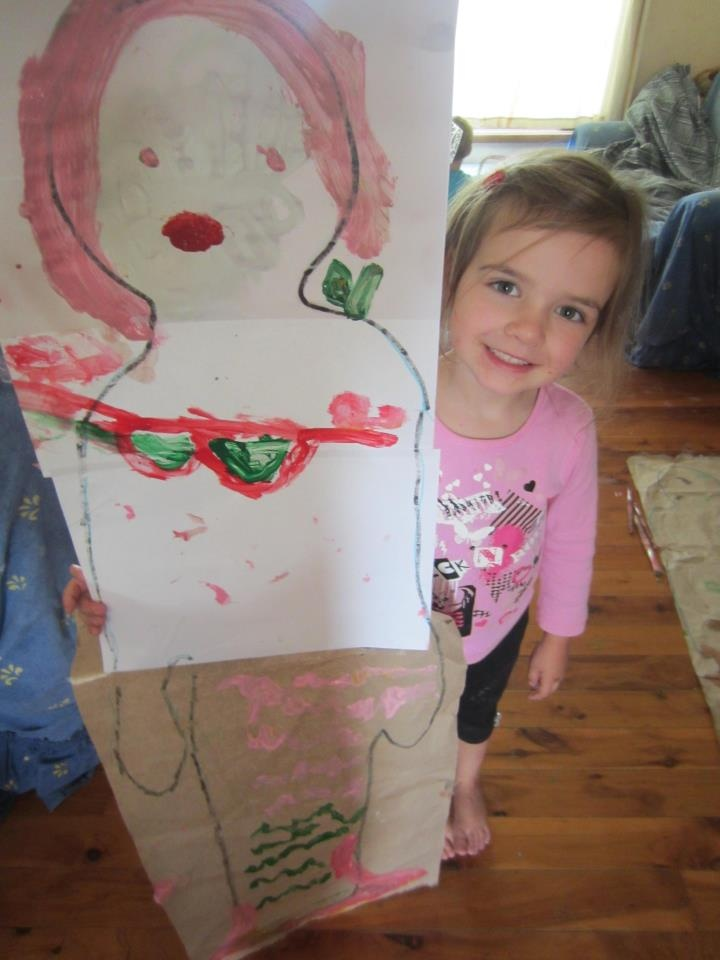 Trace your child's body and they can turn their outline into anything they want