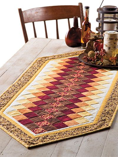 Colorwash Table Runner is a Quick and Easy Project - Quilting Digest