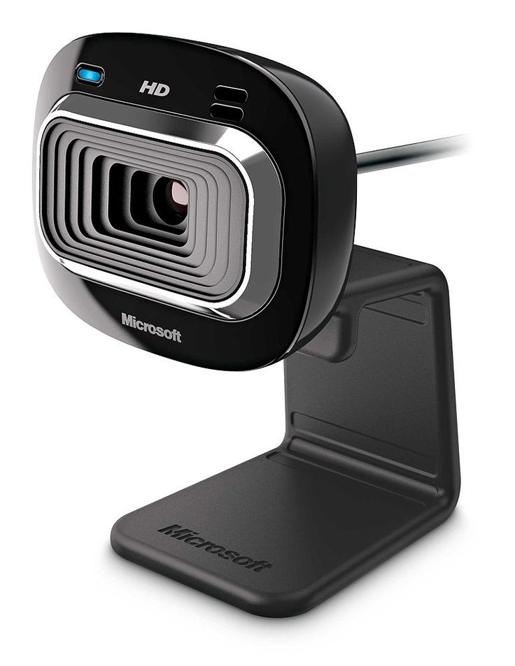Amazon.com: Microsoft LifeCam HD-3000 Webcam - Black (T3H-00011), 720p HD 16:9 Video Chat, Skype Certified: Computers & Accessories