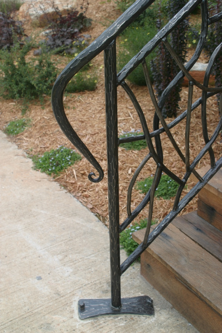 12 best wrought iron handrails for outdoor steps images on - Exterior wrought iron handrails for steps ...