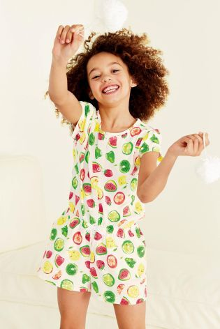 Fruit All Over Print Playsuit (3-16yrs)