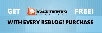 The best time to purchase a RSBlog! subscription - you get a free RSComments! subscription also. http://bit.ly/1ixTL3y #FreeExtension #JoomlaExtensions #Promotion
