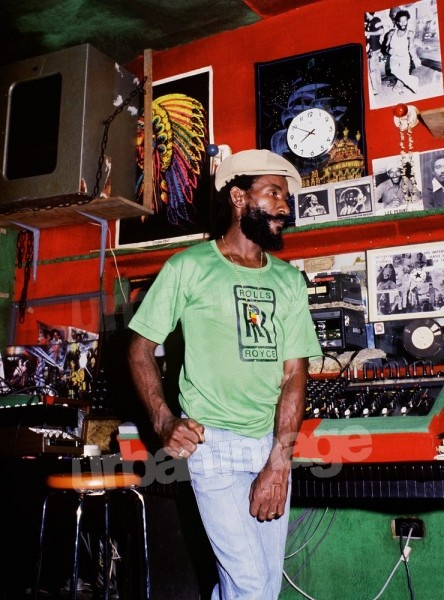 Nice colour shot of Lee Perry at the Black Ark.
