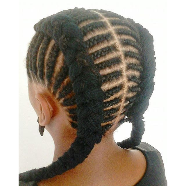 These 30 Braided Looks Will Make You Want to Rock Cornrows | Cool braid hairstyles, Kids braided ...