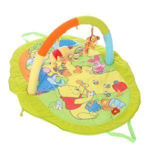 Tapis de Jeu Winnie  Tapis de jeu et arche de jouets en peluche:  Bébé pourra grâce à ce tapis d'éveil découvrir les textures et bruitages tout en s'amusant avec Winnie l'ourson.