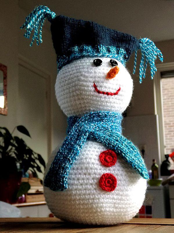 Sneeuwpop Haken Haken Kerst