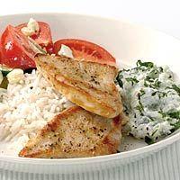 Recept - Kalkoen met Griekse salade en tzatziki - Allerhande
