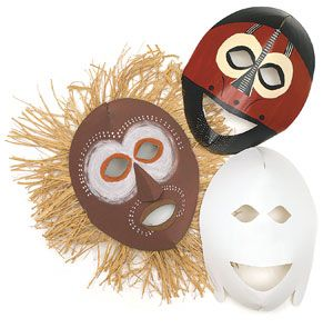 african mask blanks... neat idea