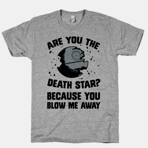 Nerdy pick up lines are the best.  Let them know how your feel with this funny shirt