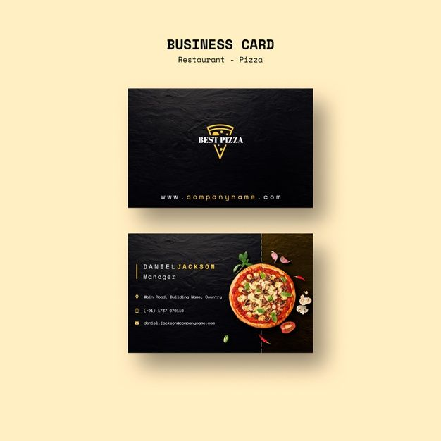 Download Business Card For Pizza Restaurant For Free Food Business Card Pizza Restaurant Download Business Card