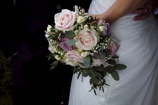 Sweet Avalanche and Memory Lane Rose Bouquet | Alex and Dan's Summer Garden Fête Wedding | Clock Barn