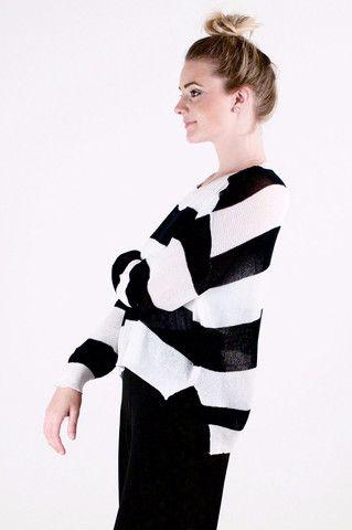 Striped B&W Sweater