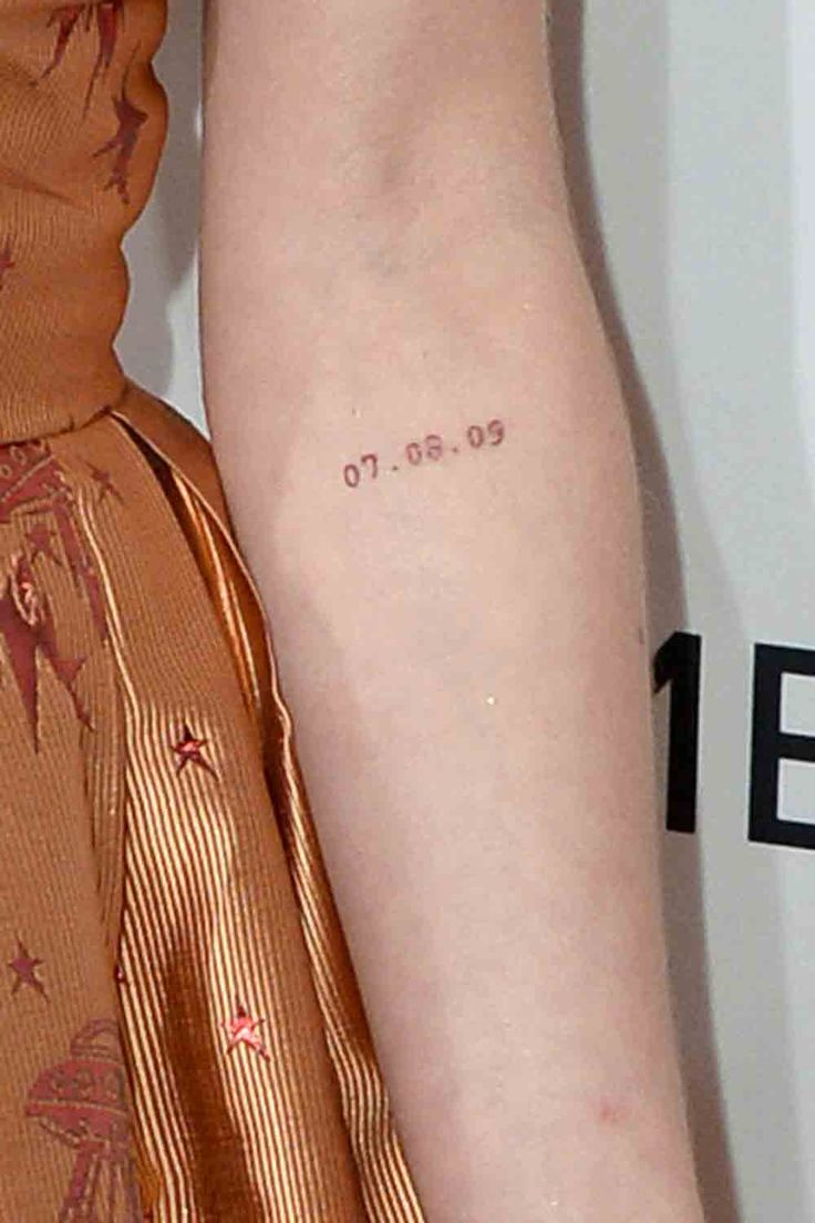 Maisie Williams' tattoo is perfection | http://www.hercampus.com/beauty/15-cutest-celebrity-tattoos-ever