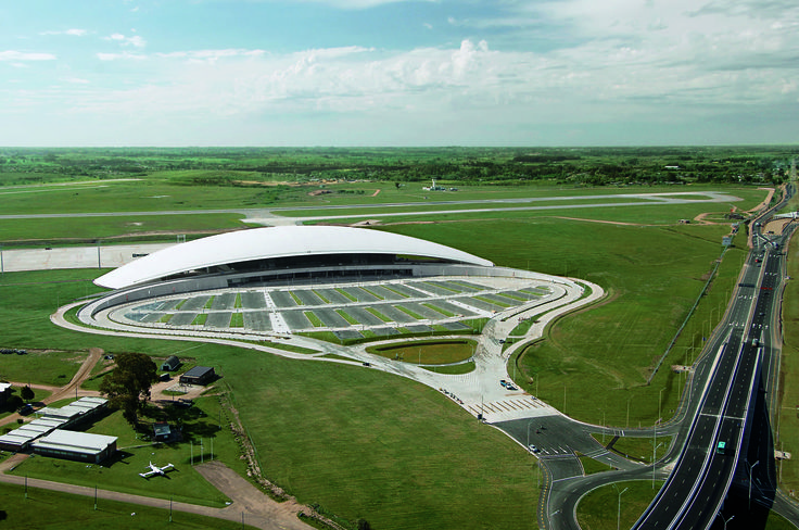 Carrasco International Airport | Rafael Viñoly Architects | Aerial view. Photo: Daniela Mac Adden