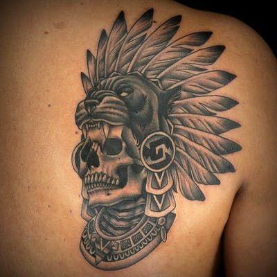 Torso Tattoos, Head Tattoos, Skull Tattoos, Body Art Tattoos, Symbol Tattoos, Tattoo Art, Aztec Tattoos Sleeve, Japanese Sleeve Tattoos, Aztec Tattoo Designs