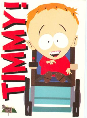 Timmy! It's Timmy from South Park in his own postcard. Standard size, glossy finish.