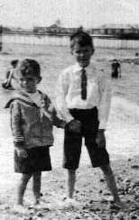 Alan and his elder brother John in Hastings. Date unknown