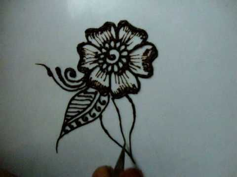 How to draw Floral Henna design for beginner