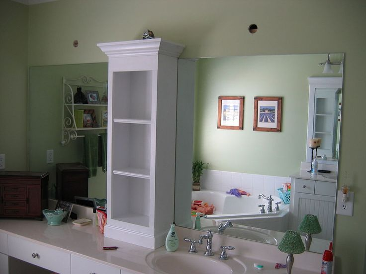 How to Make a Large Bathroom Mirror Look Designer