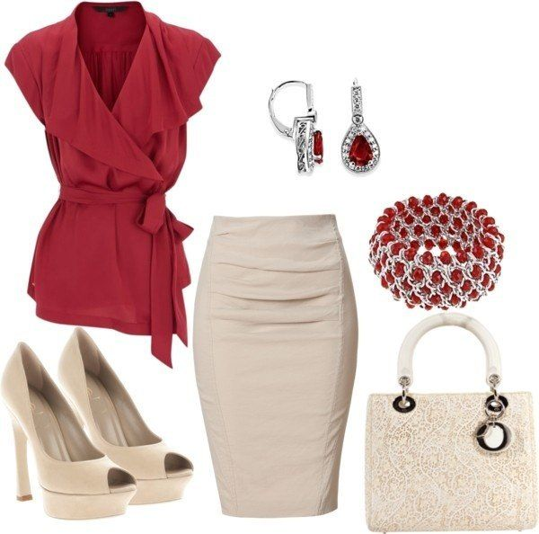 Red and white for summer.... I already have the nude heels...
