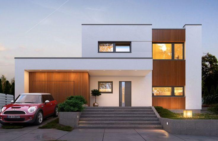 Nowoczesny, piętrowy dom jednorodzinny.Strefę dzienną wyróżnia wysoki salon z…