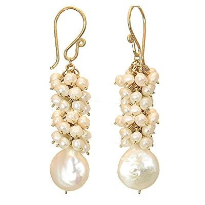 pearl earrings: Pearls Cluster, Pearls Jewelry I Want To Mak, Juno Jewelry, 30 Cluster, Pearls Ears, Summer Jewelry, Bridal Jewelry, Pearls Earrings, Ivory Pearls